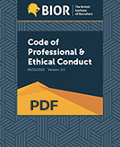 Code of professional & ethical conduct